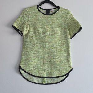 Aritzia   Wilfred Tweed Neon Green Top